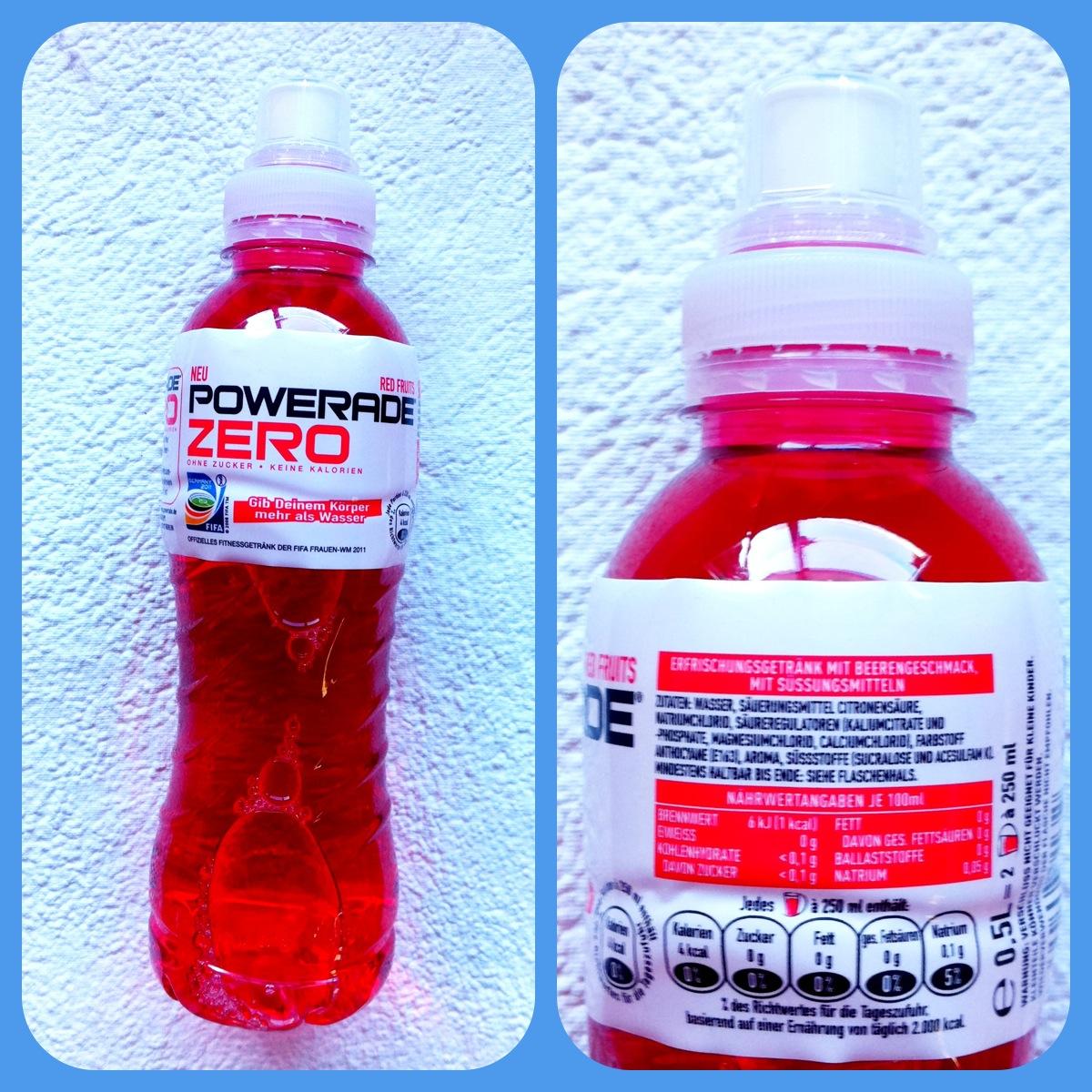 Flüssige rote Gummibären - Powerade Zero Red Fruit - mein-diabetes ...