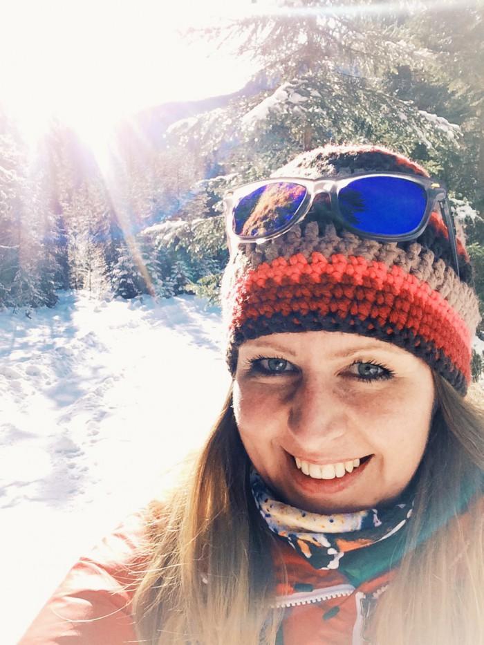 Wandern im Schnee - Juchee