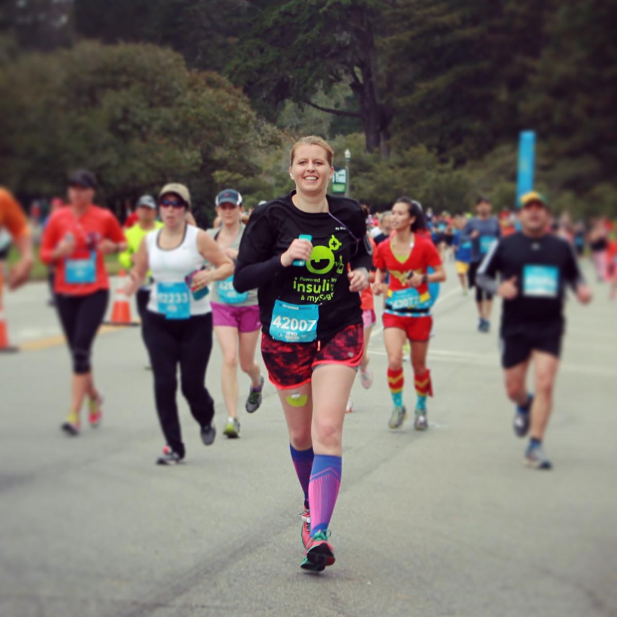 Zieleinlauf im Golden Gate Park